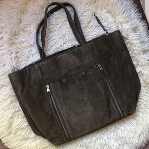 All saints suede tote